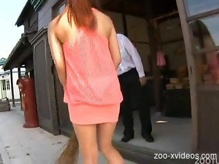 Japanese female amazing scenes of severe zoophilia