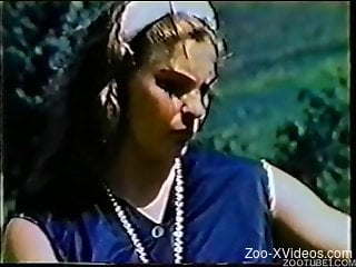 Stunning vintage Zoo XXX with horses and sexy chicks