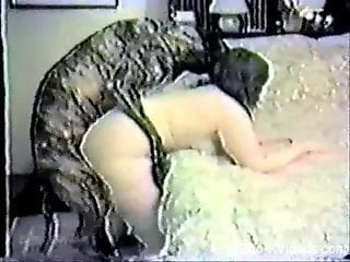 Fat and pale amateur gets drilled bent over the bed
