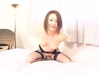 Cock-hungry JAV hottie getting drilled by a black dog