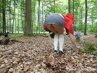 Red Riding Hood-themed bestiality porn video