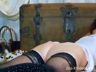 Masked cam babe fucked in the pussy by her dog
